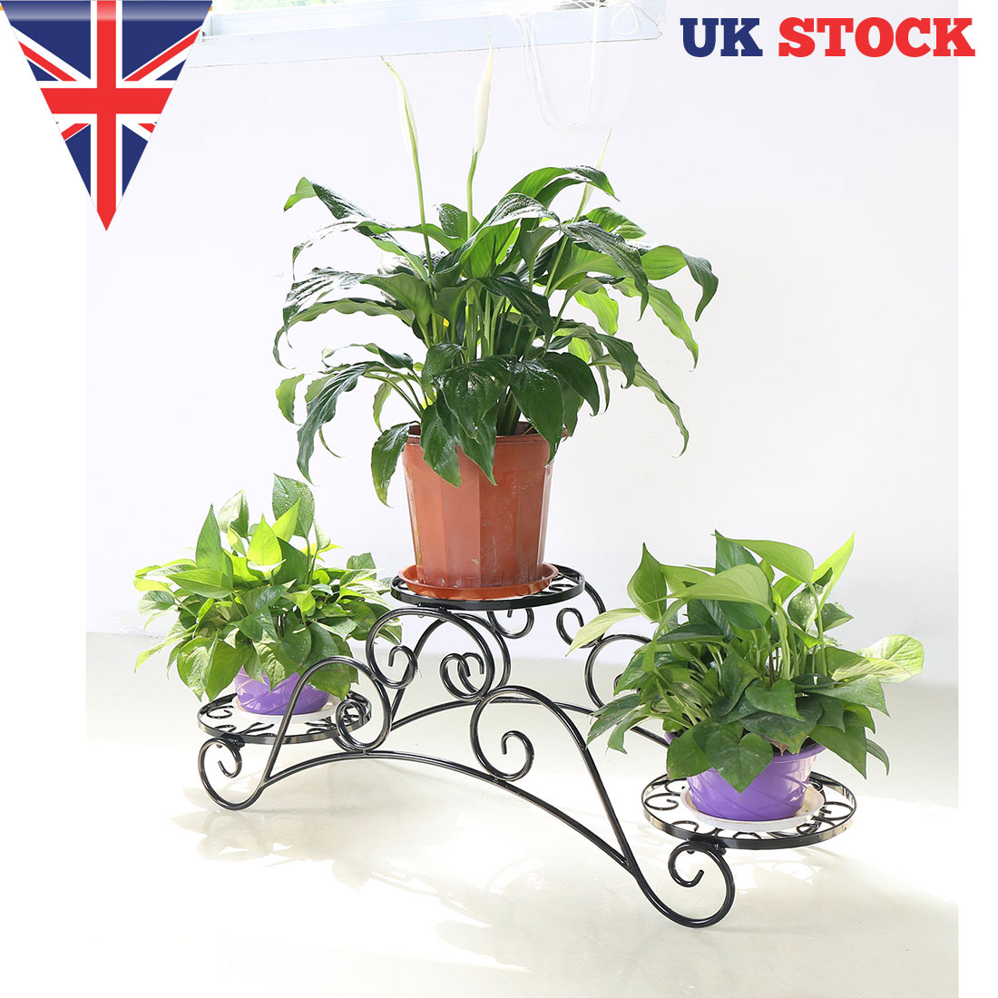 office flower pots. Image Is Loading Metal-Arch-Garden-Plant-Stand-3-Flower-Pots- Office Flower Pots