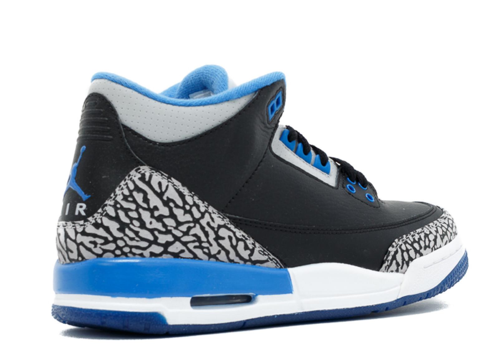Details about Air Jordan 3 Retro Bg (Gs) 'Sport Blue' 398614 007 Size 6