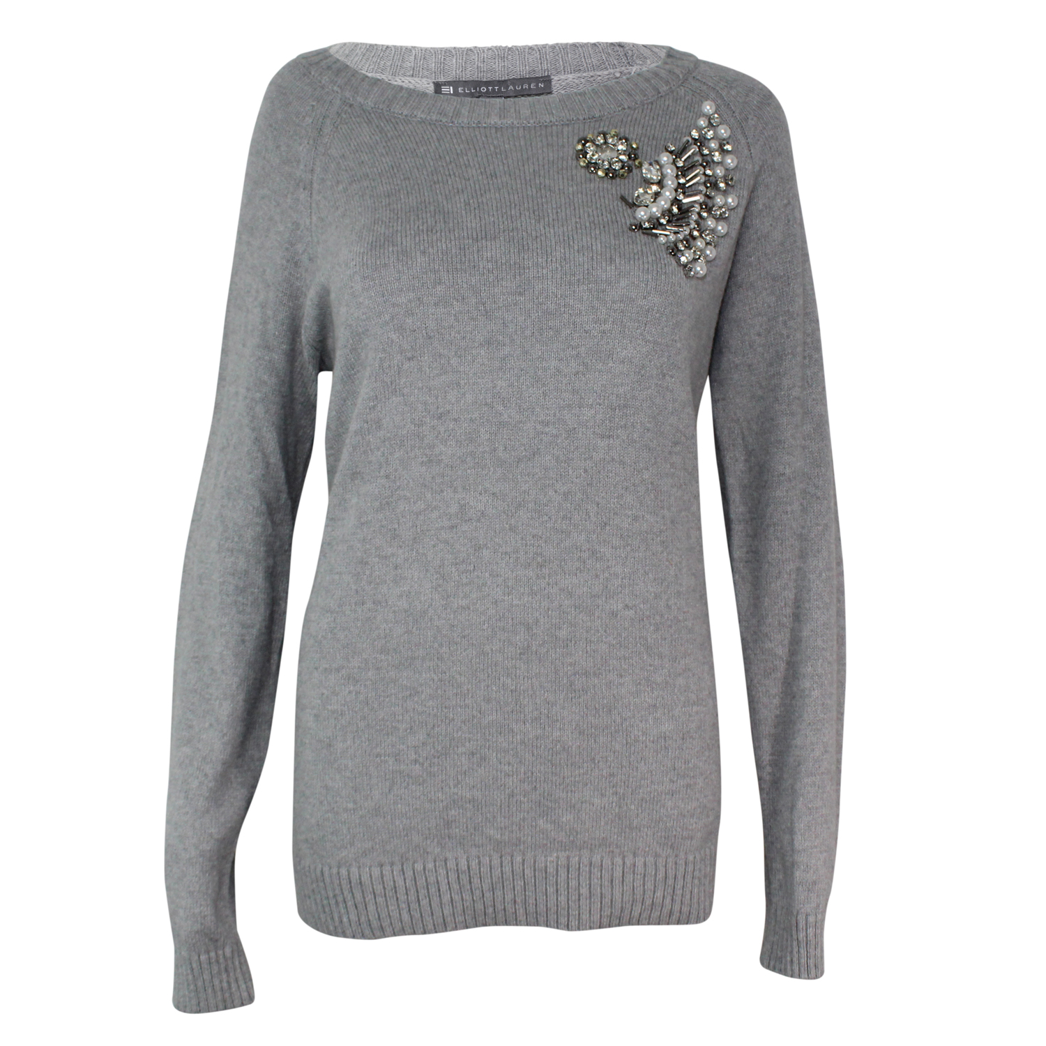 Elliott Lauren New Razzle Sweater Grey Medium