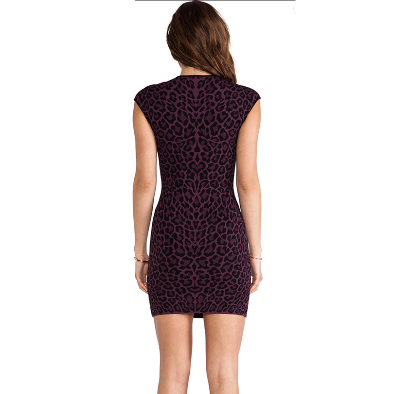 Rvn Rvn Rvn Leopard Jacquard Shift Dress 0d5379