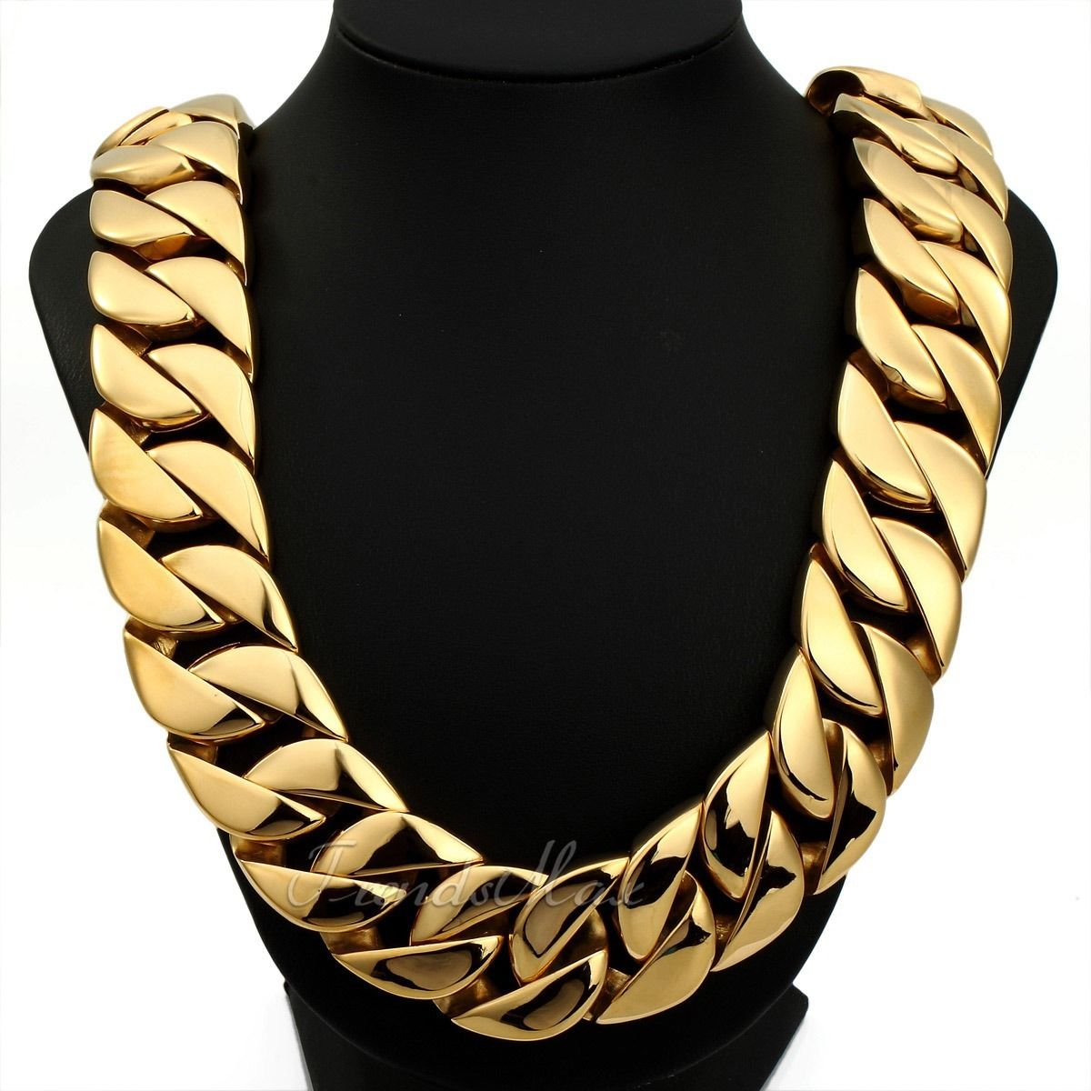 chain ebay mm necklace cuban itm hollow curb yellow img gold link mens inches