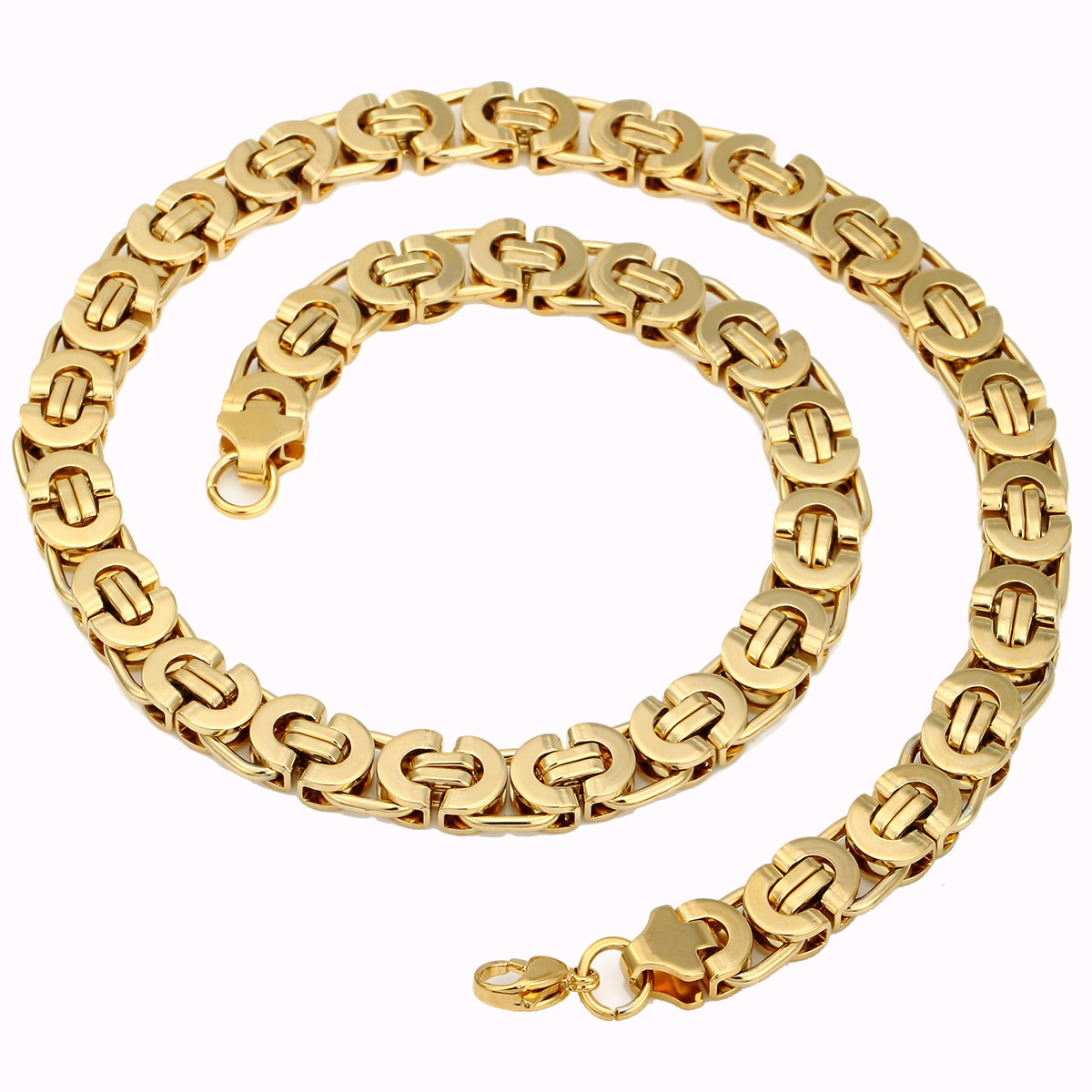 Mens Gold Byzantine Necklace: Black Silver Gold Chain Necklaces For Mens Byzantine