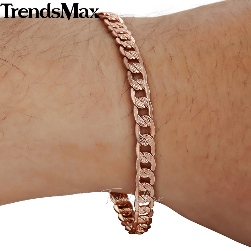 men gold hollow chain womens bracelet yellow diamond real itm cut rope