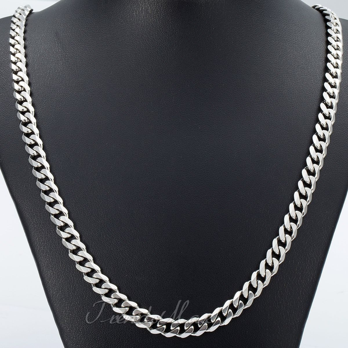 in mens chain item color jewelry silver necklace curb wholesale stamp plated shipping men collare with link free necklaces gold two cuban from real platinum tone