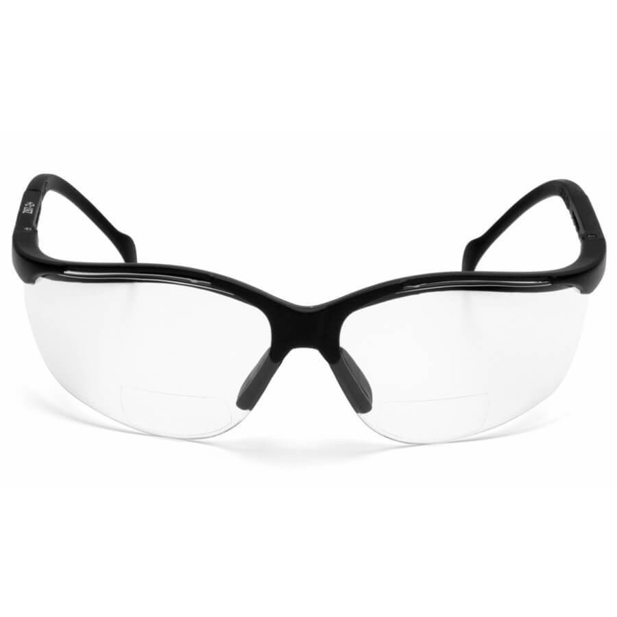 Pyramex-V2-Reader-Bifocal-Safety-Glasses-with-Black-Frame-and-Clear-Lens thumbnail 7