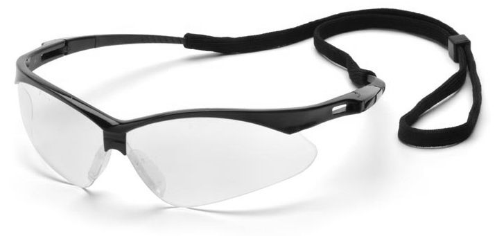 ddaa80c8ae Pyramex PMXtreme Safety Glasses with Black Frame and Clear Lens ...