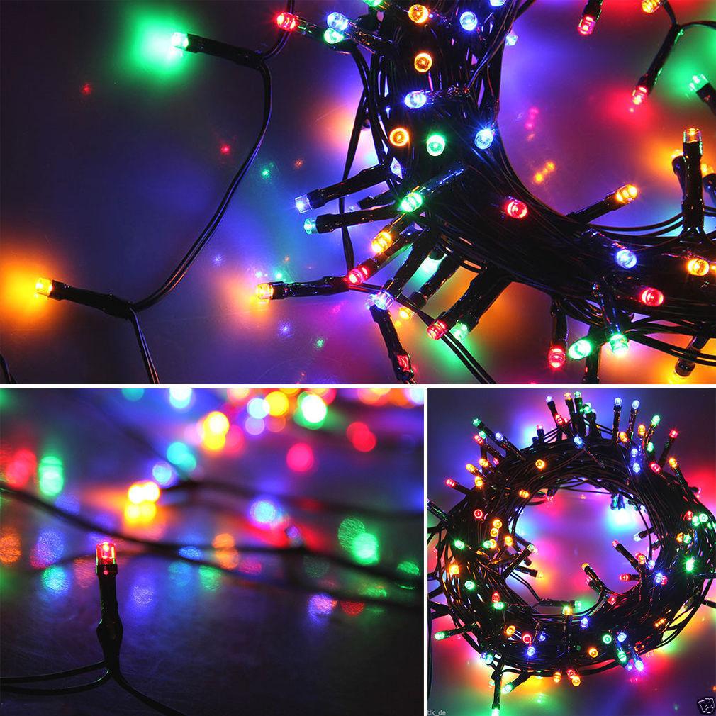 12M 100LED Solar Lichterkette Weihnachten Party Garten Leuchten ...