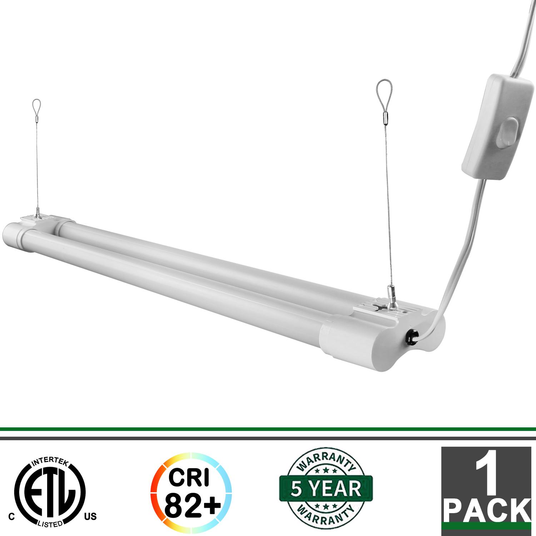 5000 Lumen 4000k Led Garage Shop Light Fixture Hanging: 2FT 18W Integrated LED Fixture 5000K 1800 Lumens Garage