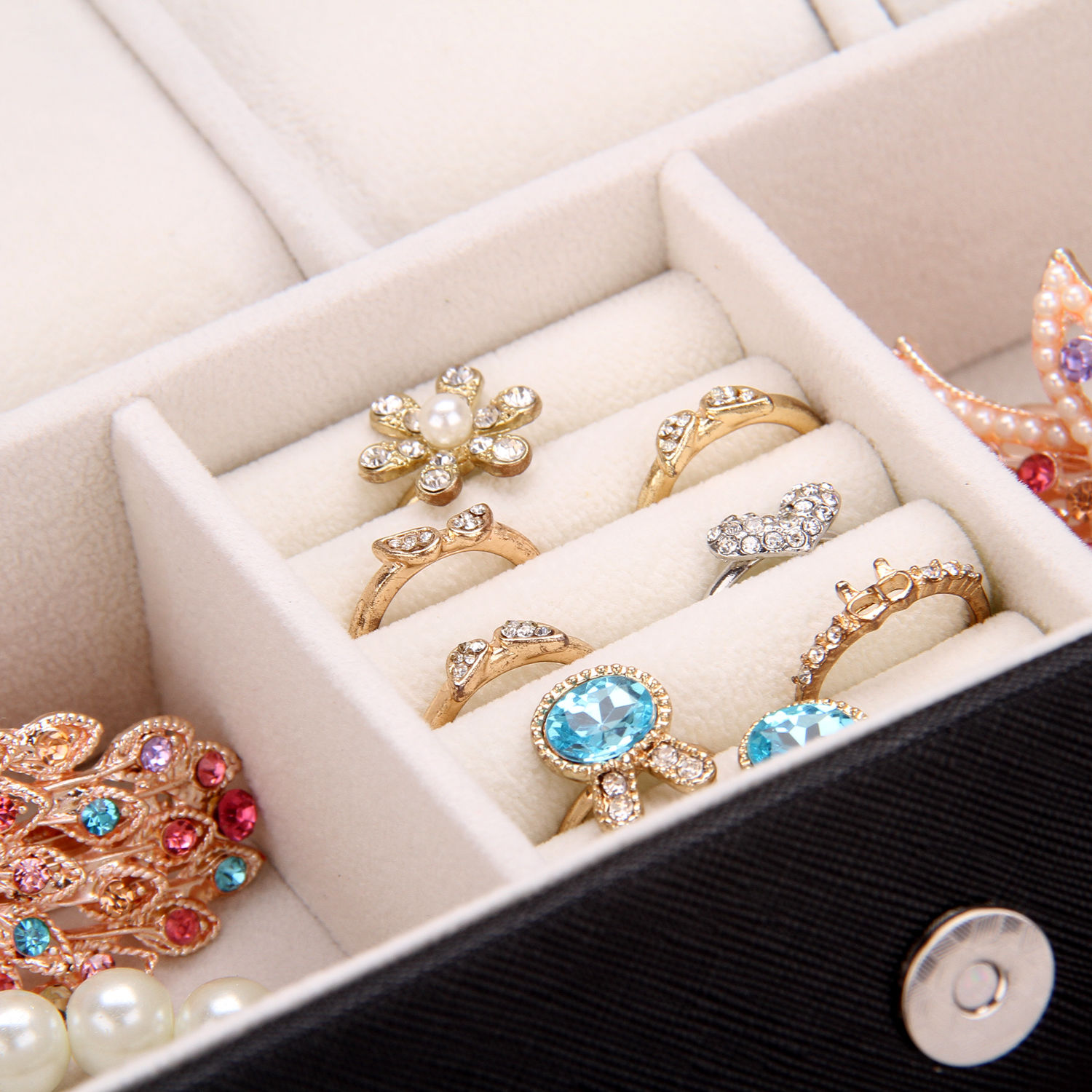 4-Slots-Watch-Box-Jewelry-Storage-Rings-Bracelet- & 4 Slots Watch Box Jewelry Storage Rings Bracelet Travel Case ...