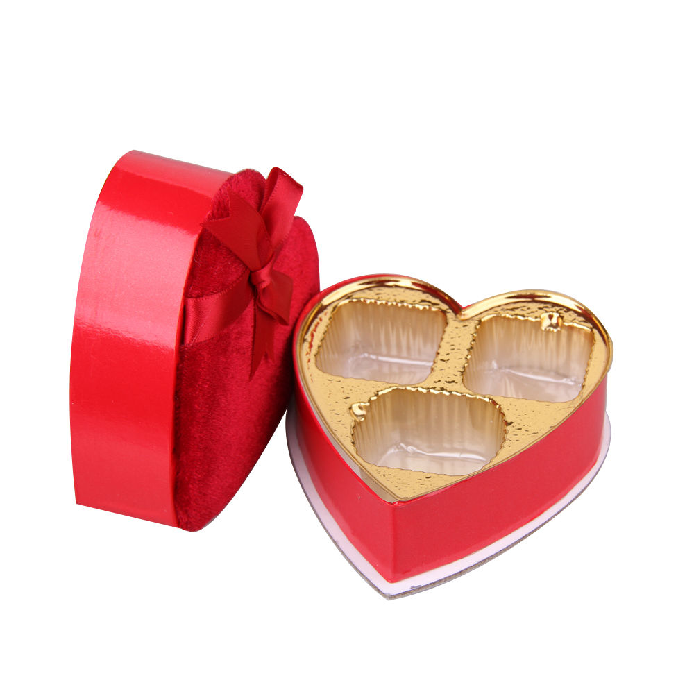 Chocolate Heart Shaped Gift Boxes : Wedding favour heart shaped candy sweets chocolate box