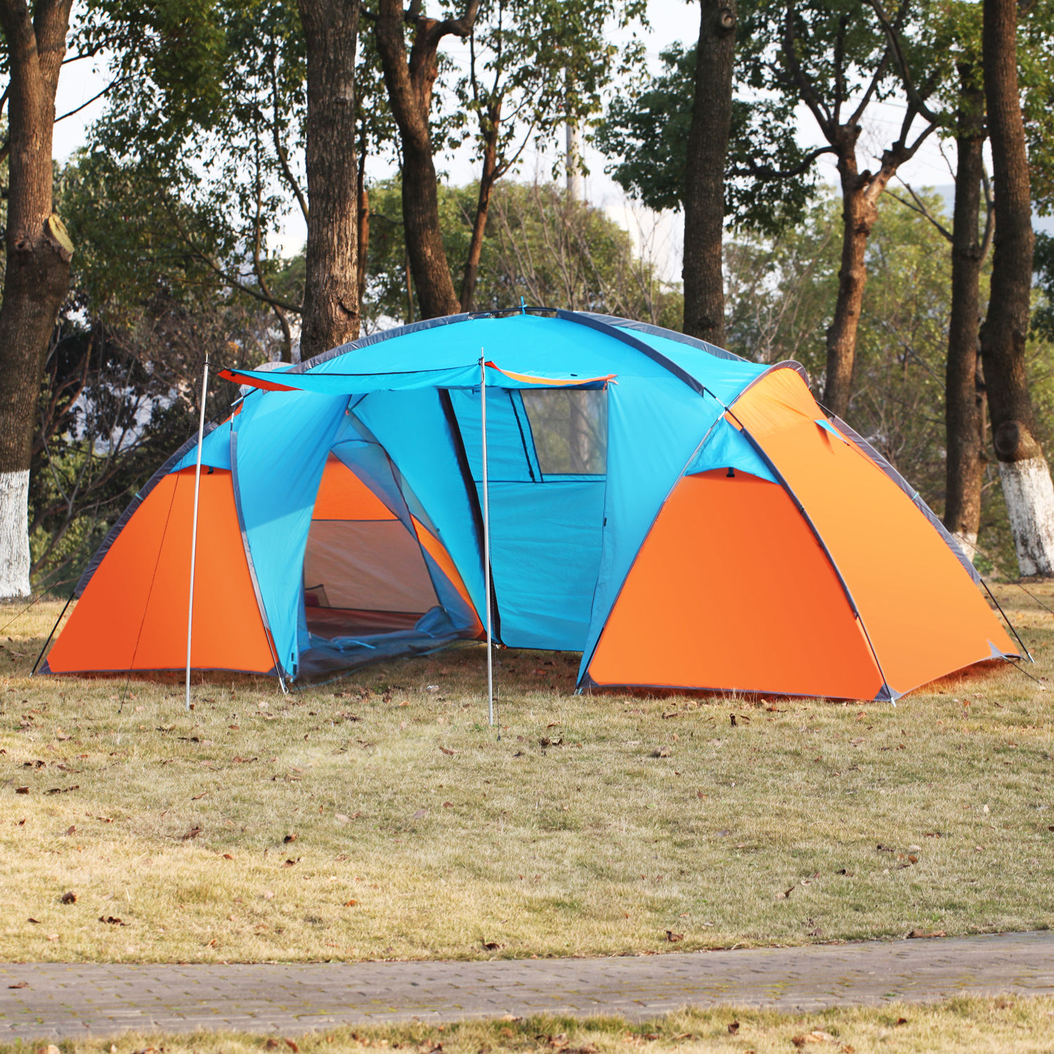 3 4 person instant cabin camping tent hikingtraveling easy for Tent cottage