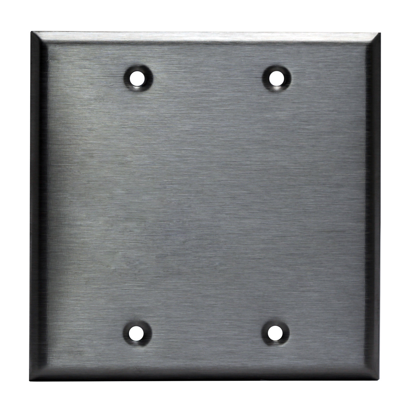 Outlet Cover Plates Entrancing Brushed Stainless Steel Blank Outlet Cover Switch Wall Plates 1 2 Review