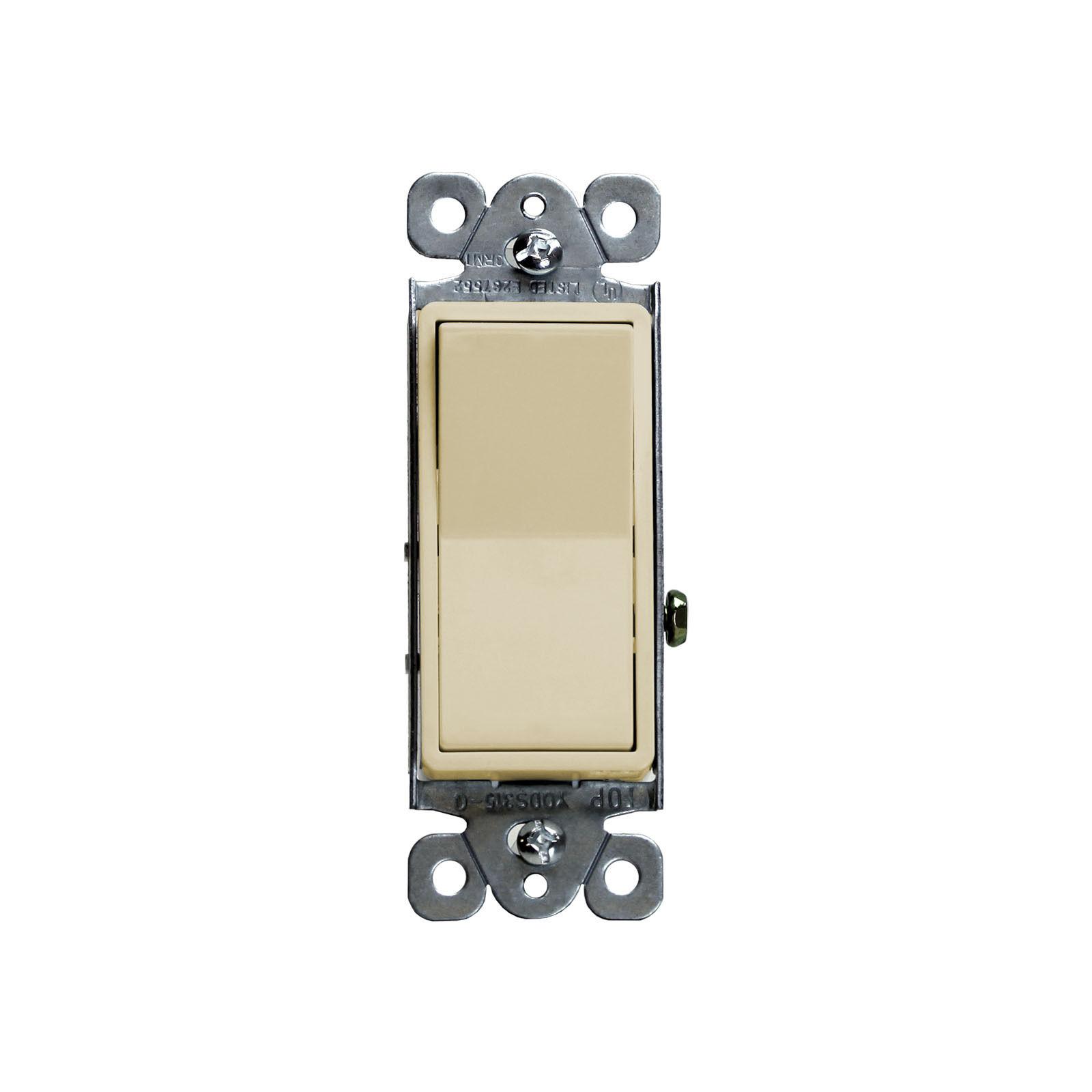 15 Amp Decorator Illuminated Backlit Rocker Light Switch Single Pole ...