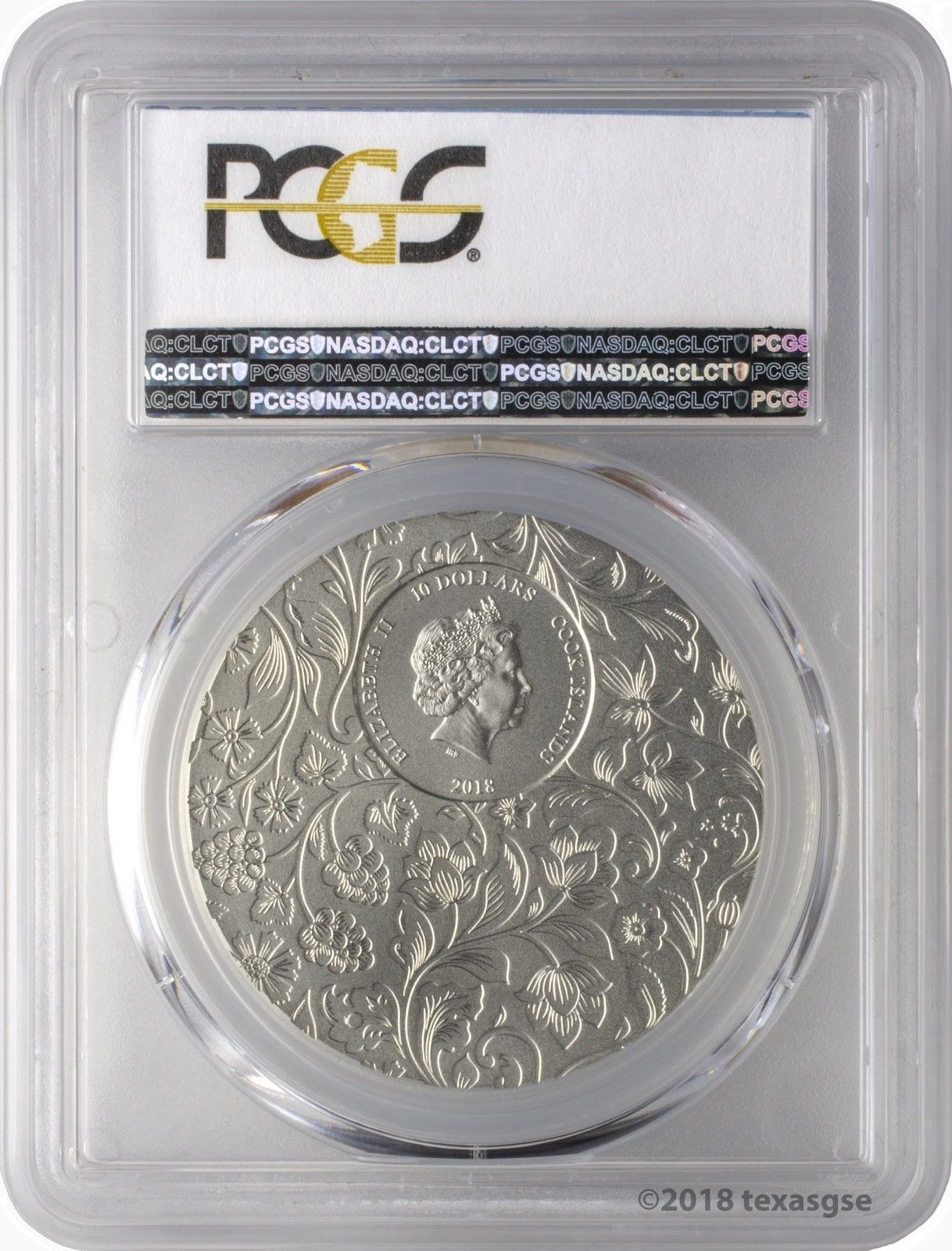 2018 $10 Cook Islands Little Secrets 2oz .999 Silver Coin PCGS MS69 FD