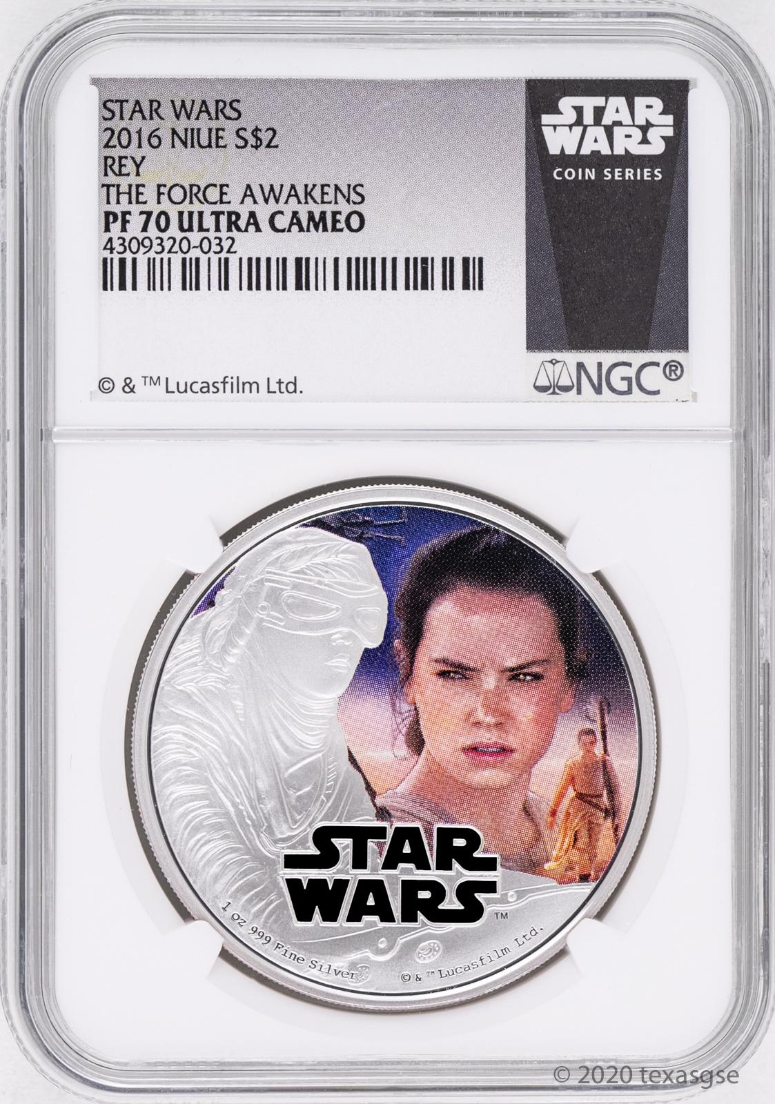 etik ljuv ångest  2016 Niue $2 Star Wars: The Force despierta Rey Moneda de Plata Ngc  PF70-Blanco | eBay