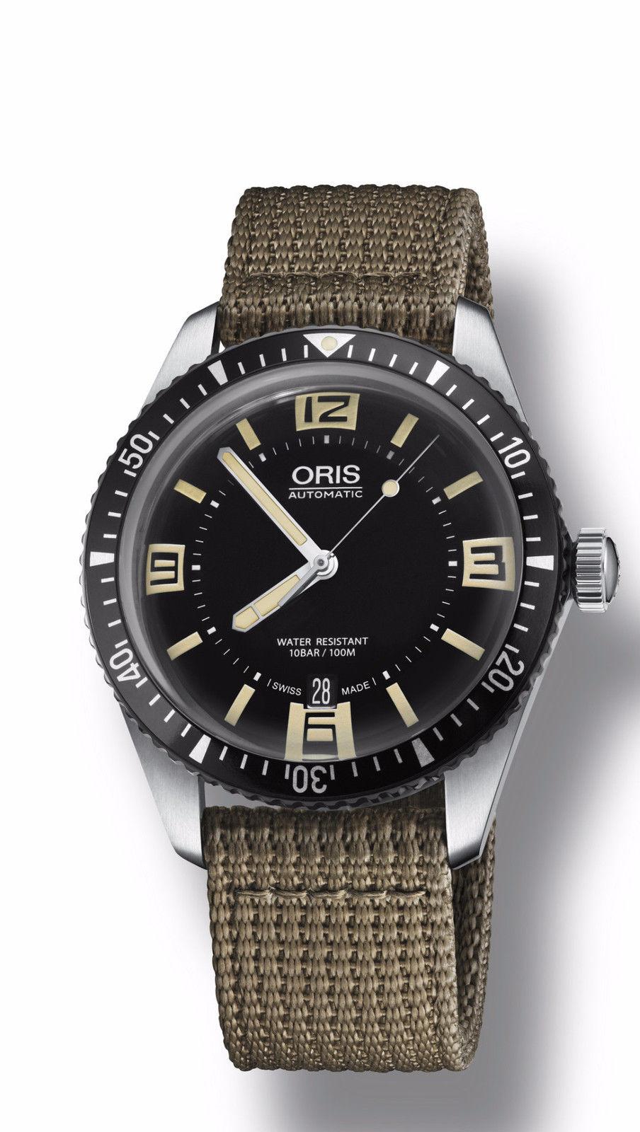 ORIS 0173377074064-0752022 Mens Divers SIXTY-FIVE Swiss Made Watch ... 15ebb4dc4b
