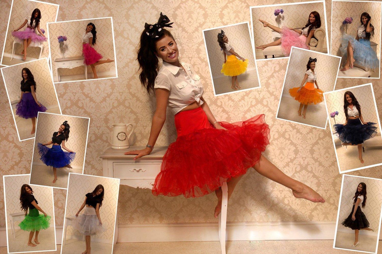 Indexbild 6 - Frauen der 50er Jahre Petticoat Röcke Tutu Reifrock Unterrock