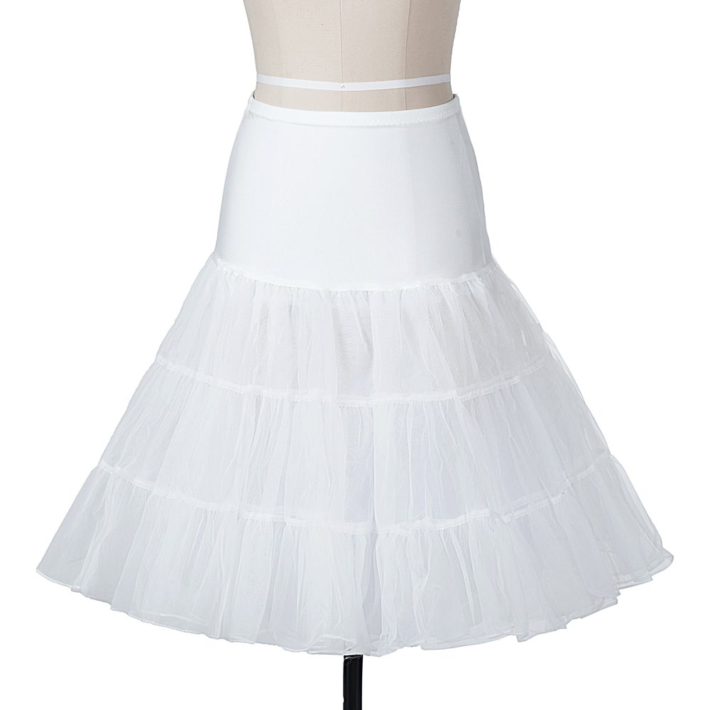 Indexbild 5 - Frauen der 50er Jahre Petticoat Röcke Tutu Reifrock Unterrock