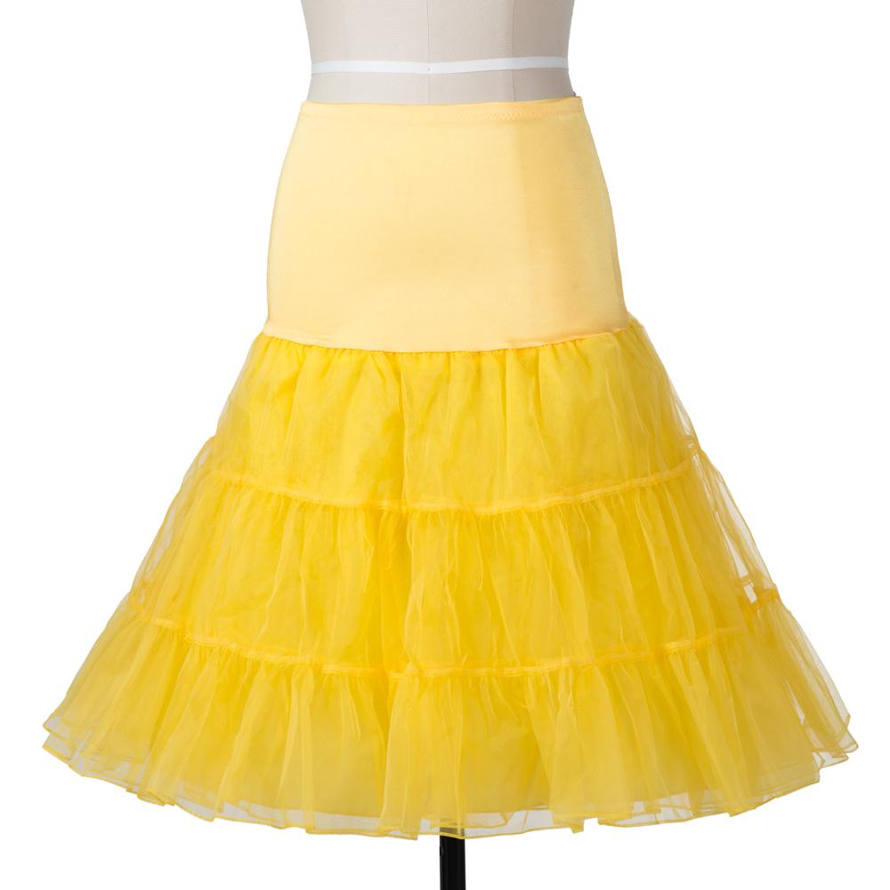 Indexbild 8 - Frauen der 50er Jahre Petticoat Röcke Tutu Reifrock Unterrock
