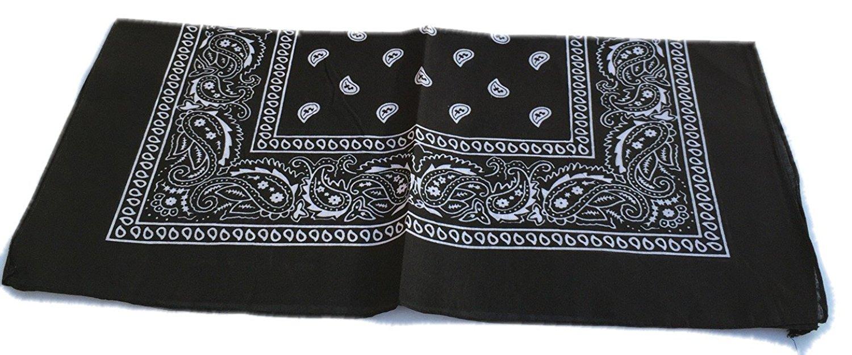 100-Cotton-Paisley-Bandana-Bandanna-Headwear-Scarf-Neck-Wrist-Wrap-Band-Headtie thumbnail 71