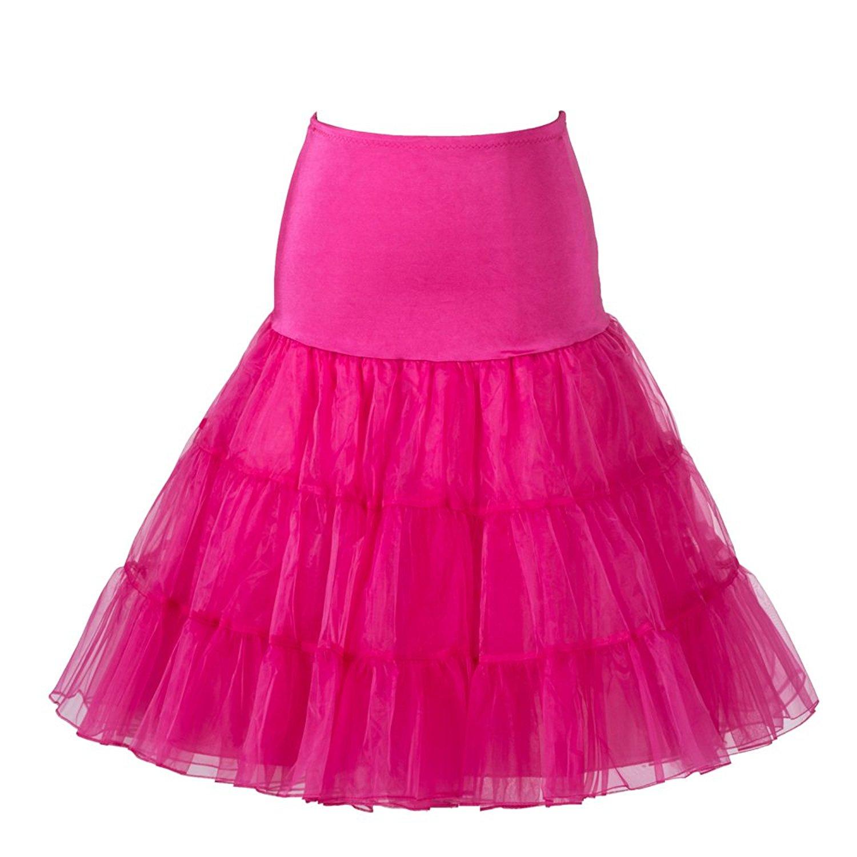 años 50 vintage Rockabily neto falda enagua 26\', rosado, grande/XL ...