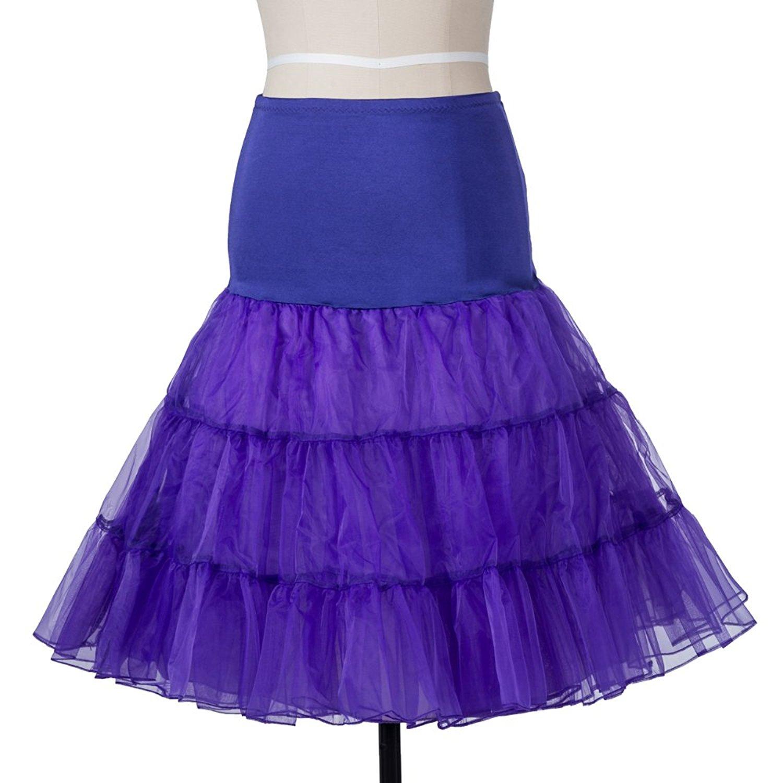 Indexbild 19 - Frauen der 50er Jahre Petticoat Röcke Tutu Reifrock Unterrock