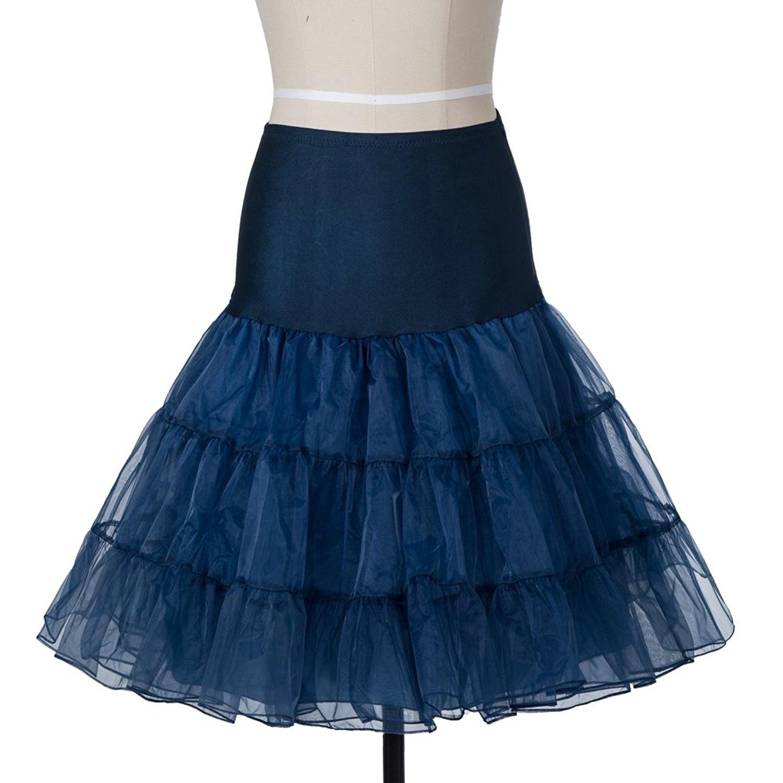 Indexbild 21 - Frauen der 50er Jahre Petticoat Röcke Tutu Reifrock Unterrock