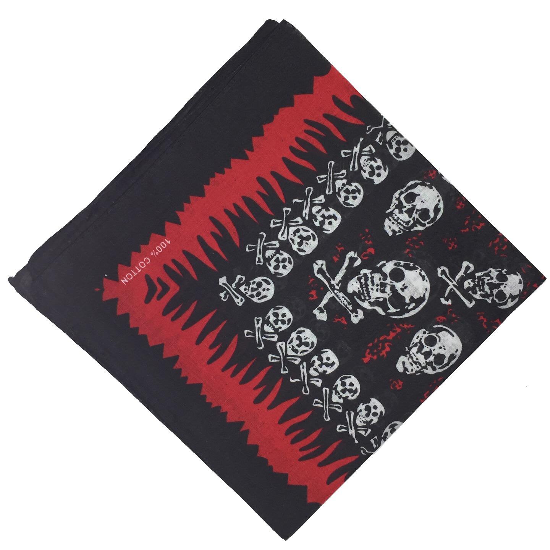 100-Cotton-Paisley-Bandana-Bandanna-Headwear-Scarf-Neck-Wrist-Wrap-Band-Headtie thumbnail 23