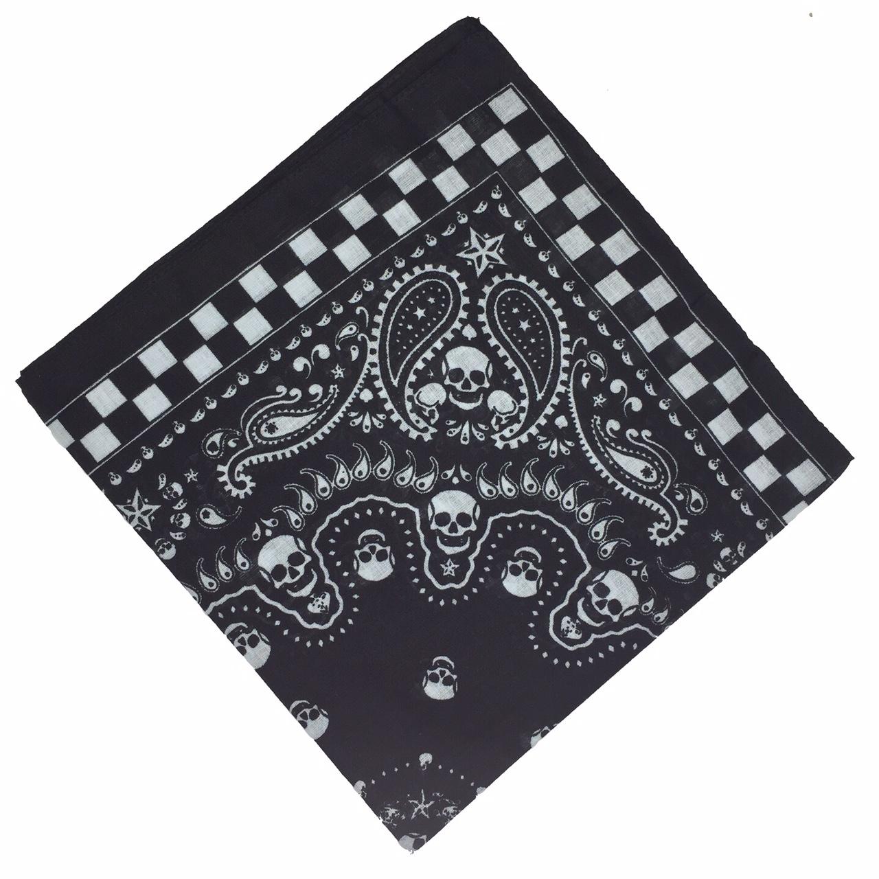 100-Cotton-Paisley-Bandana-Bandanna-Headwear-Scarf-Neck-Wrist-Wrap-Band-Headtie thumbnail 117