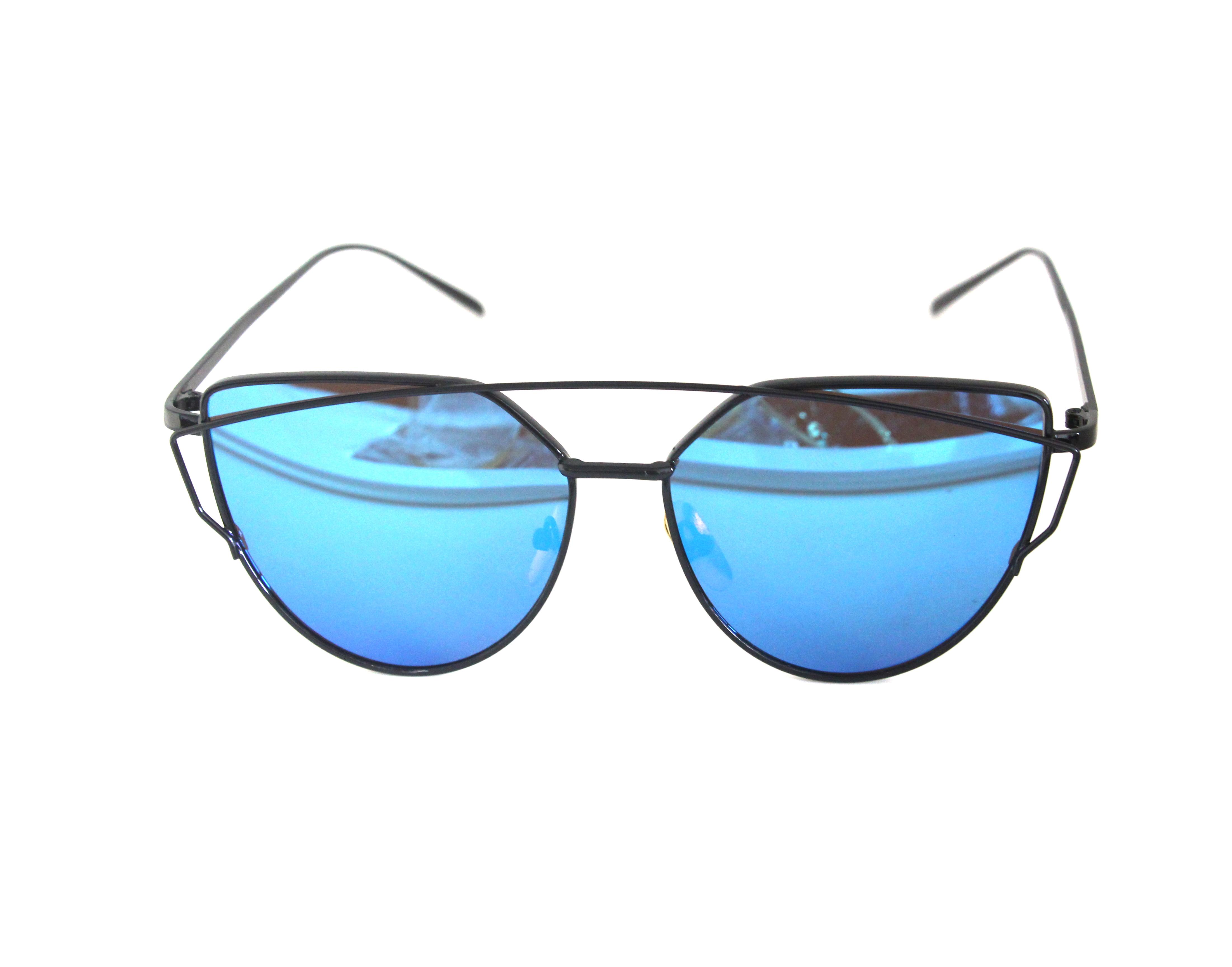 573ba0022b1 Fashion Women Cat Eye Sunglasses Classic Brand Designer Twin-Beams  Sunglasses