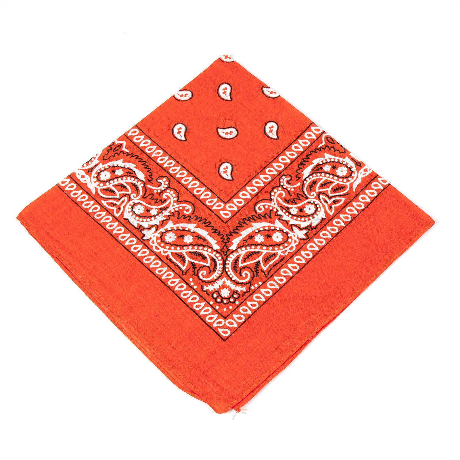 Paisley-Bandana-bandana-coiffure-Hair-Band-foulard-cou-poignet-Wrap-Band-Headtie miniature 14