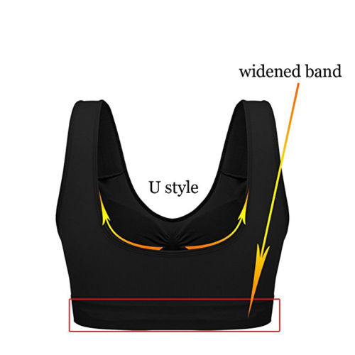 Sports-comfort-Bra-Seamless-Support-Comfort-Stretch-Bra-for-Action-Leisure miniatura 11