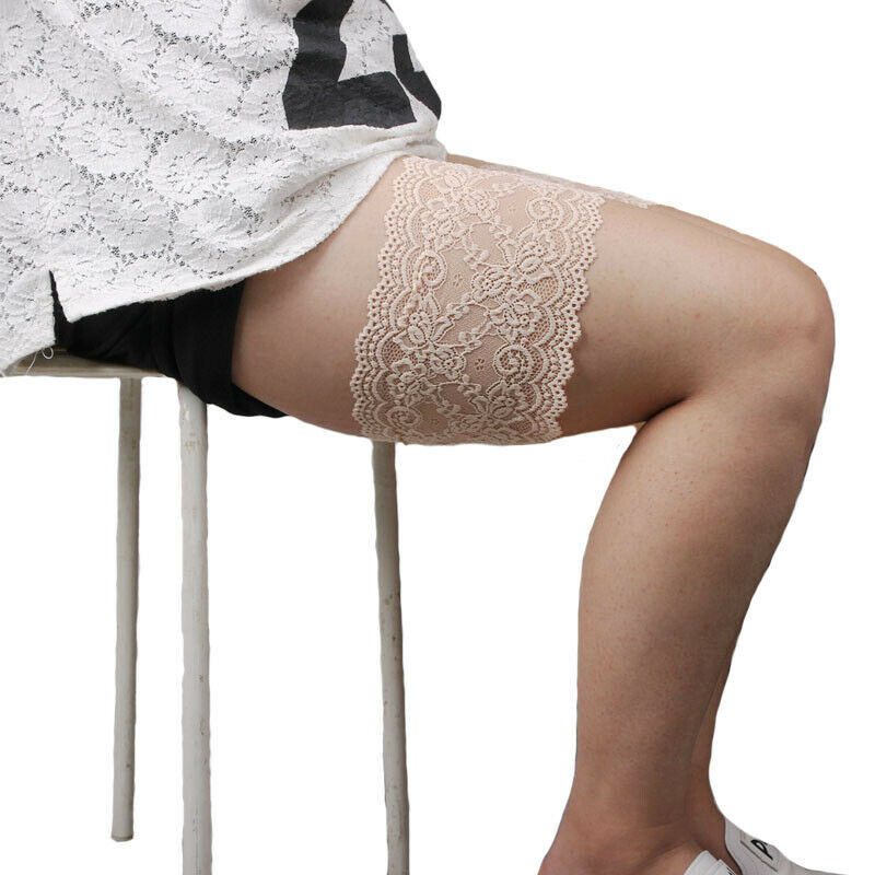 1-PAIR-2pcs-Elastic-Anti-Chafing-Prevent-Thigh-Chafing-Sexy-Lace-Leg-Bands thumbnail 8