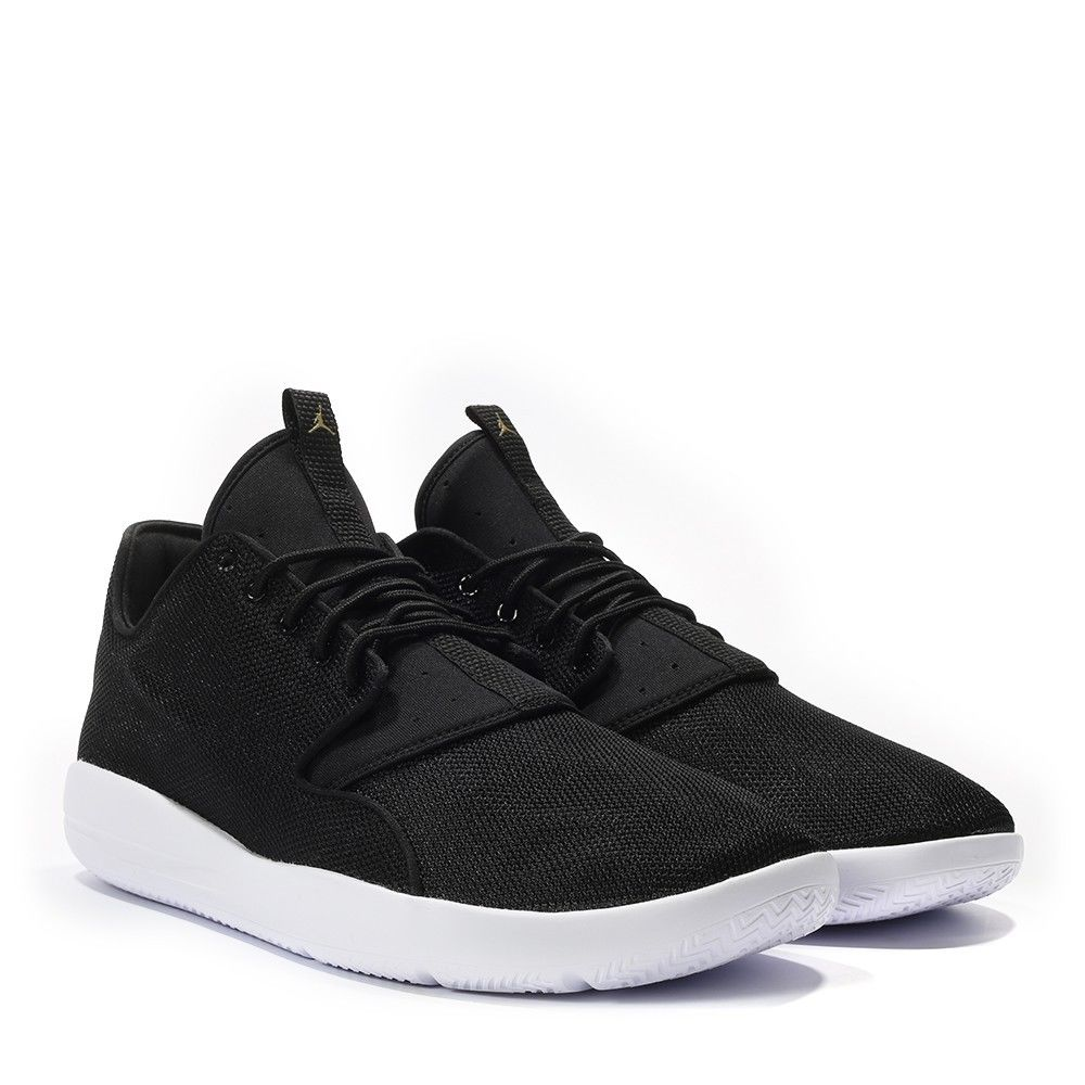 huge discount 08db4 ec156 Mens-Jordan-Eclipse-Trainers-Black-White-Gold-Casual-