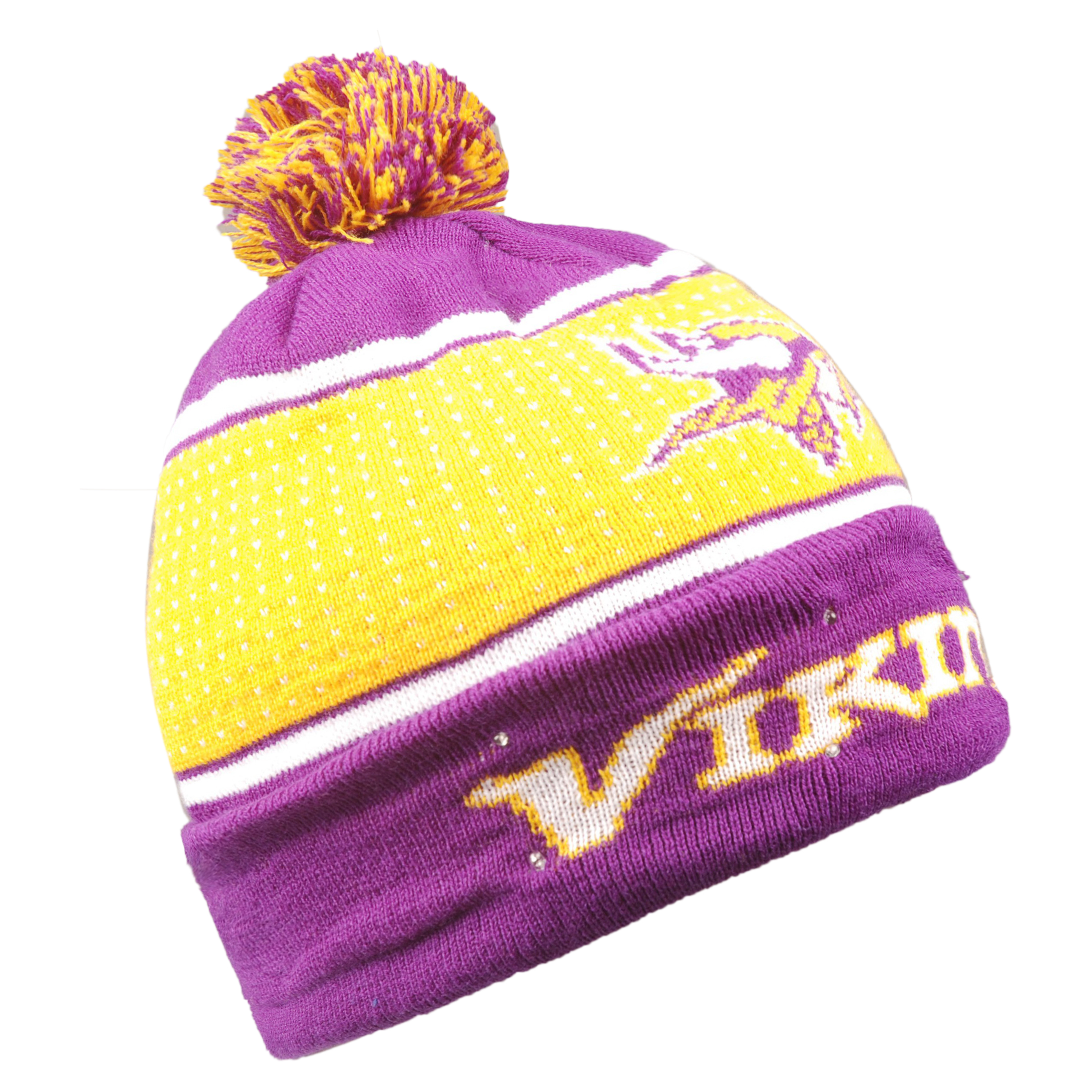 Minnesota Vikings 2018 Big Logo Light Up Knit Hat 192797077218  03622f664