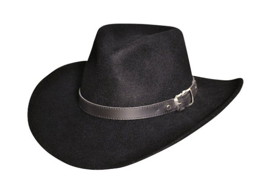 Black Creek Bc2035 Crushable Wool Felt Outback HaT USA Made XL Black. About  this product. Picture 1 of 2  Picture 2 of 2 9fae4dee09f6