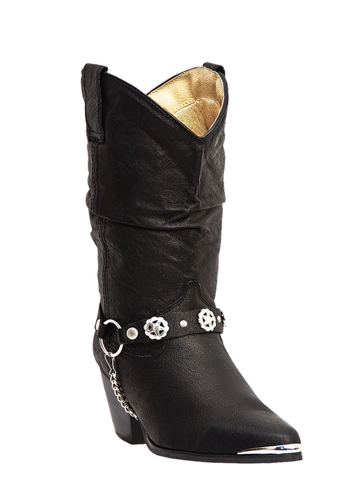 Dingo Women's Olivia Black Slouched Boot DI 522