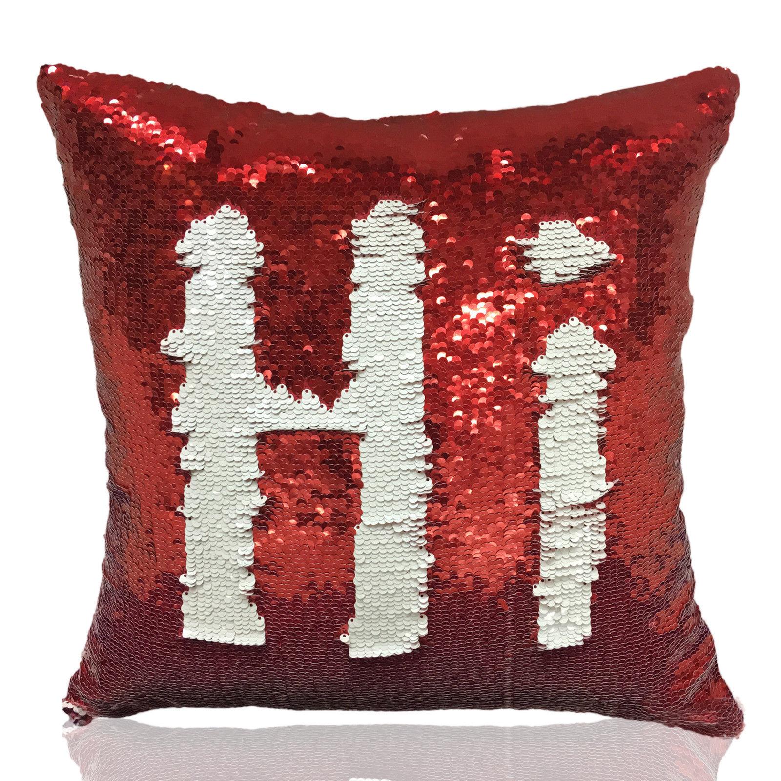 Mermaid Glitter Pillow Cover Cushion Case Reversible Sequin Magic