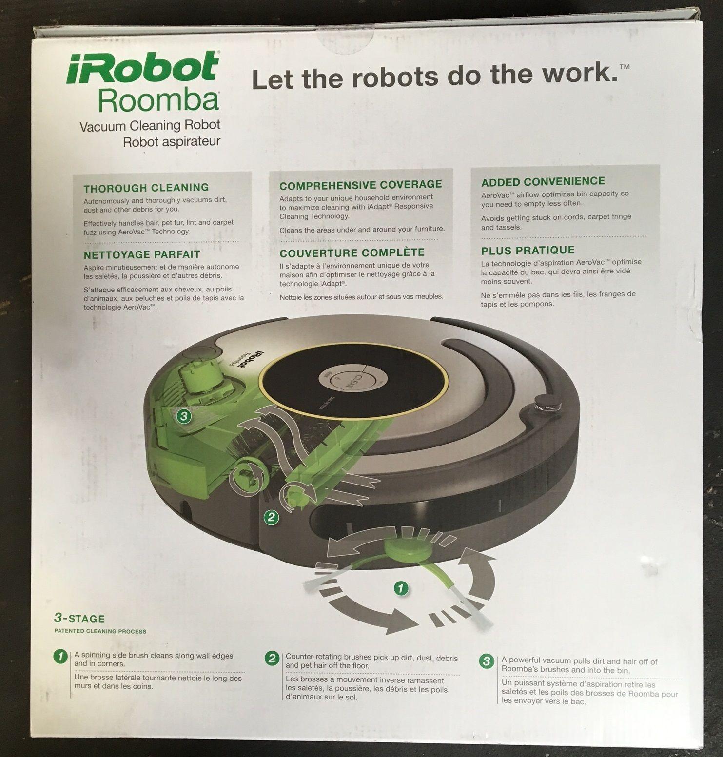 irobot roomba 650 vacuum cleaning robot brand new r650020 - Irobot Roomba 650