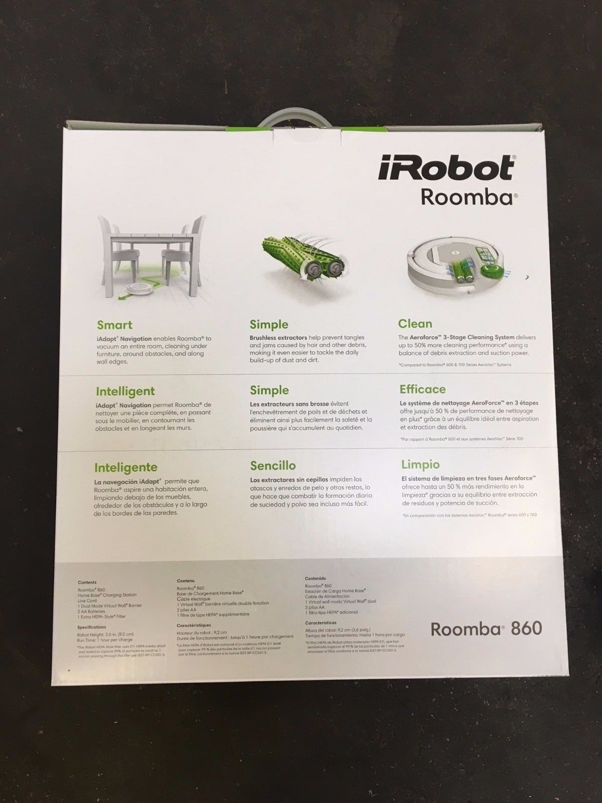 Irobot Roomba 860 Vacuum Cleaning Robot Pet Allergy Brand  # Los Muebles Tes