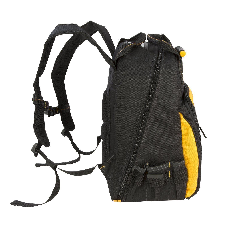 Dewalt Dgl523 Lighted Tool Backpack Bag 57 Pockets