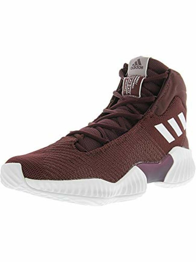 a2637c708eedf Adidas Men s Pro Bounce 2018 Basketball Shoe White Maroon 11 M Us ...