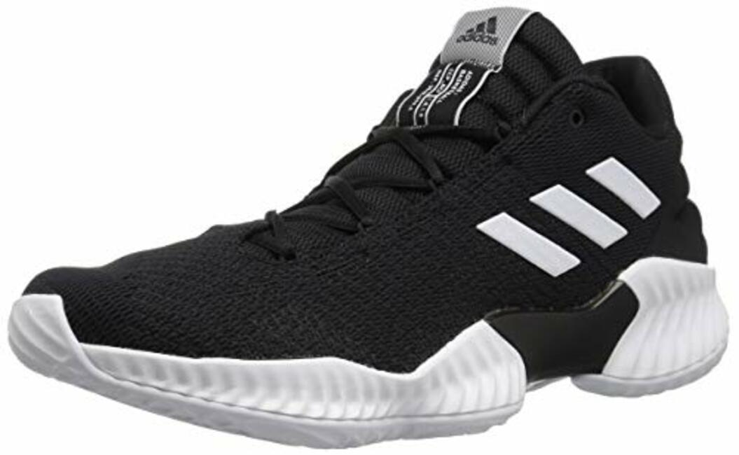 74e8c405cd8 Adidas Men s Pro Bounce 2018 Low Basketball Shoe White Black 6 M Us ...