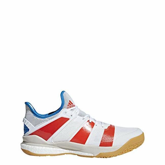 017bee286 Adidas Stabil X Shoe Men s Handball 10 White-Solar Red-Bright Blue ...