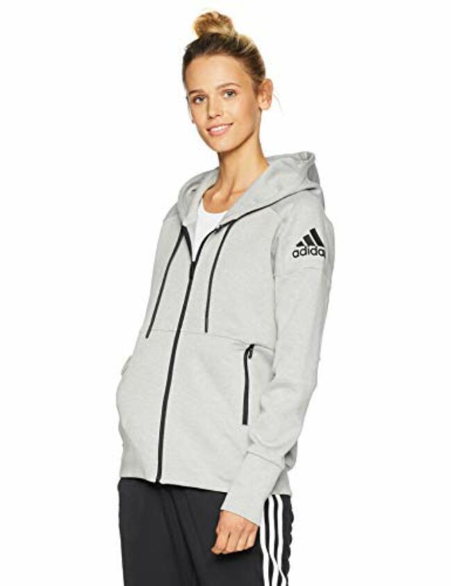 adidas Women's Athletics ID Stadium Hoodie, Stadium Heather/