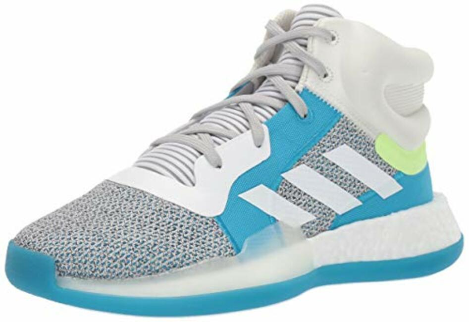wholesale dealer 5e408 9a8a3 adidas Unisex Marquee Boost GreyWhiteShock Cyan 6.5 M US Big Kid