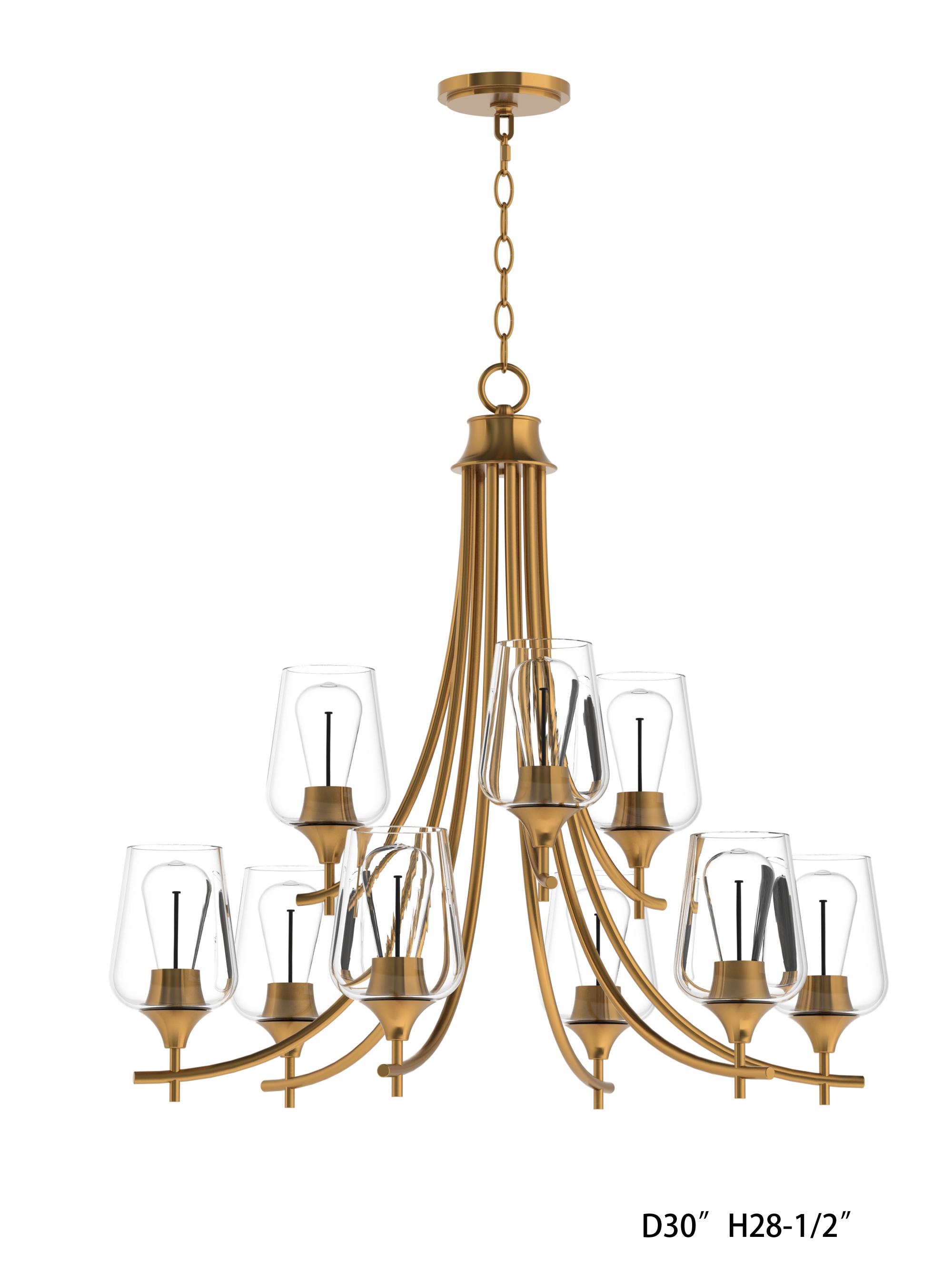 Savoy Housesavoy House Octave 9 Light Chandelier In Warm Brass Dailymail