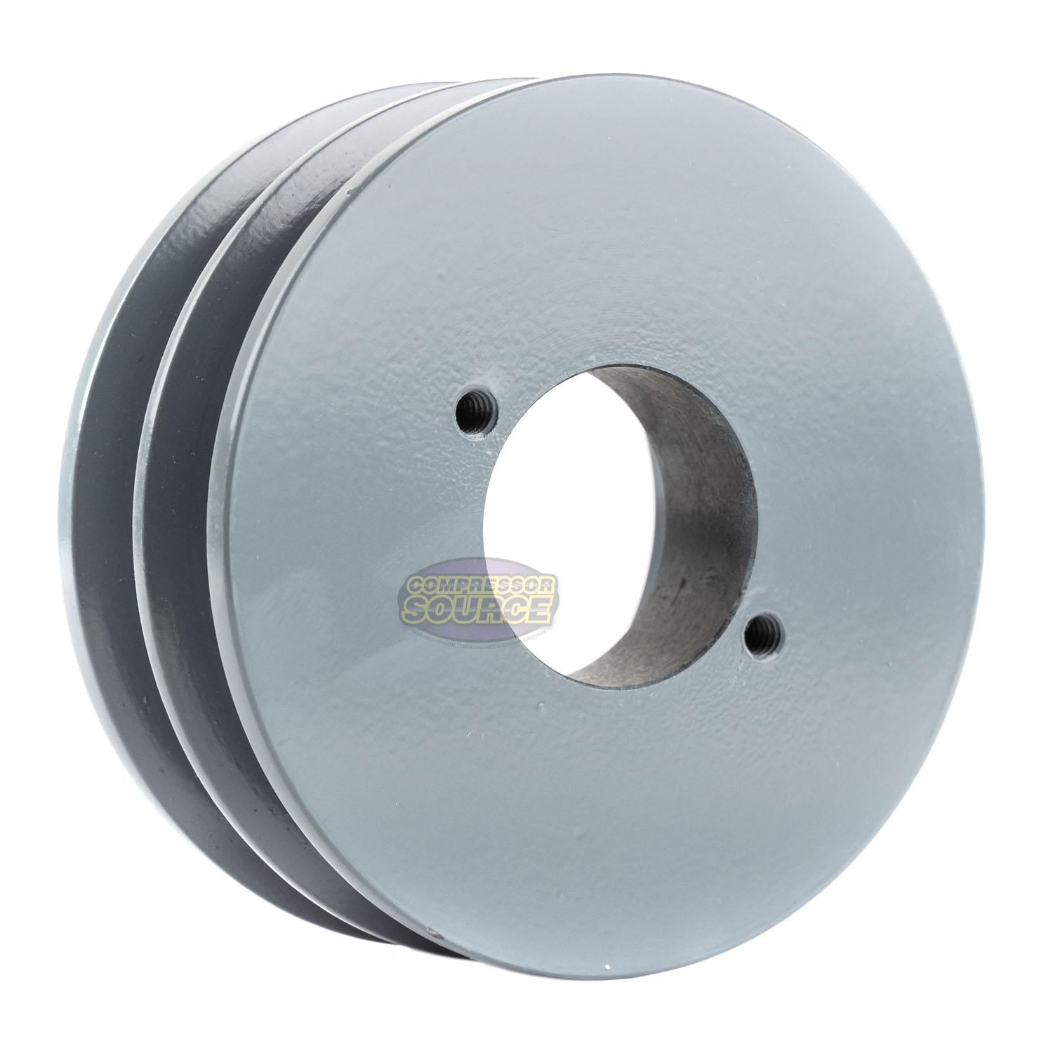 """B Section Dual Groove 2 Piece 4.5/"""" Pulley w 3//4/"""" Sheave Shiv Cast Iron 5L V Belt"""