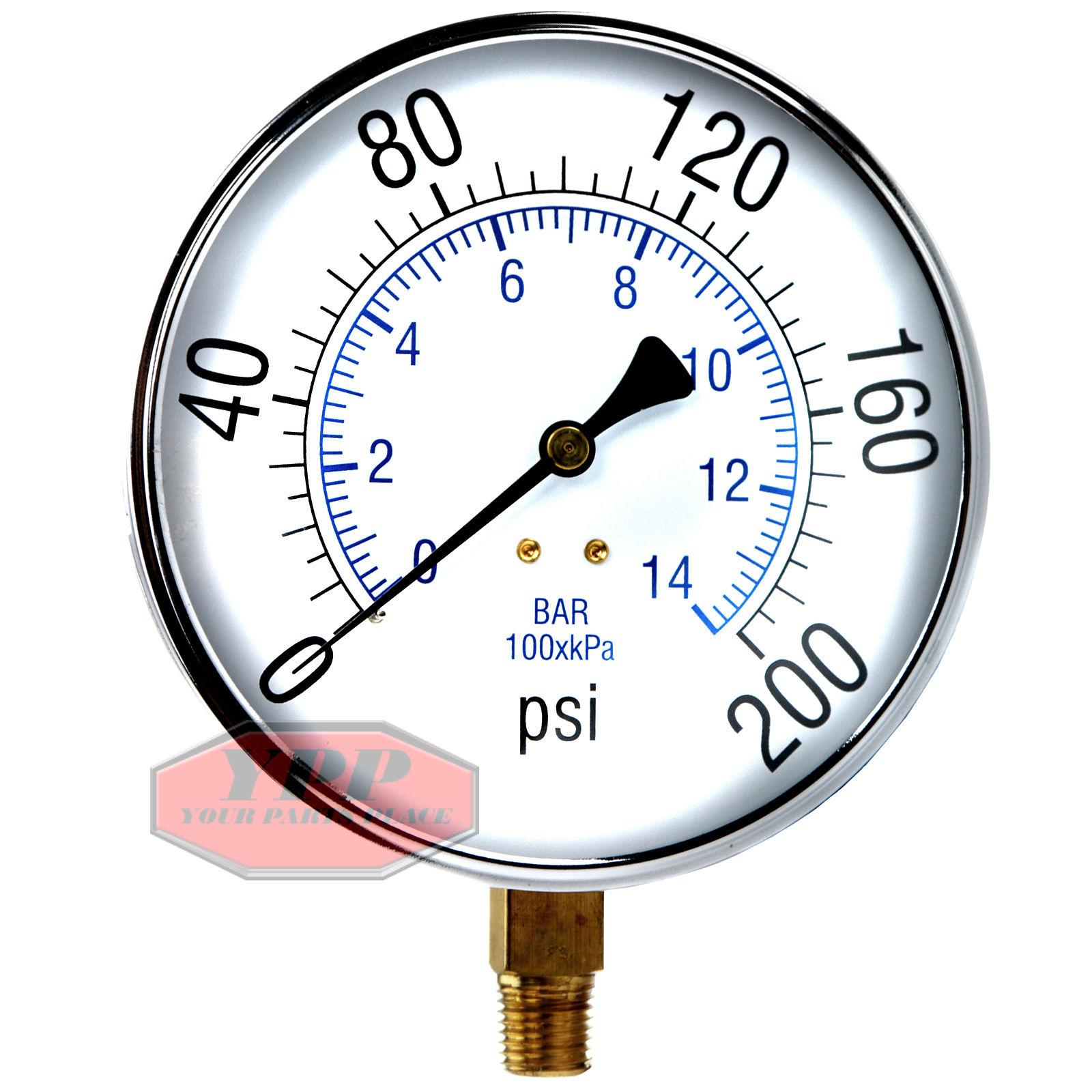 Air Pressure Gauge : Large quot psi air compressor tank pressure gauge