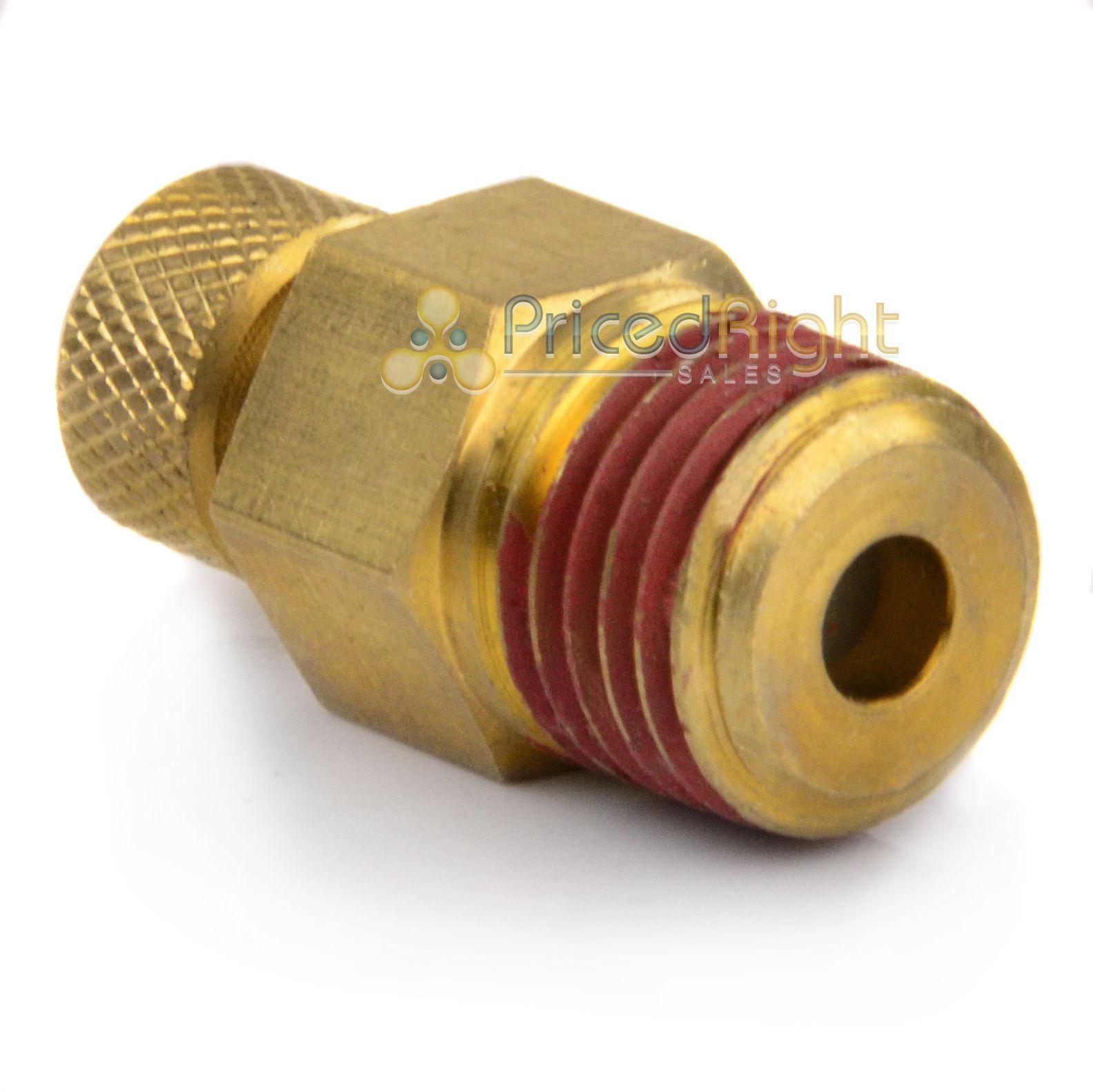 "Air Compressor Moisture Tank Drain 1//4/"" Male NPT Water Petcock Brass"